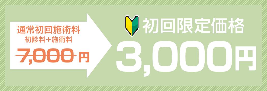 初回限定価格 全メニュー30%OFF!!